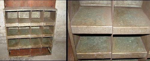 Industriemöbel gebrauchtes metallregal im industriedesign industrie möbel
