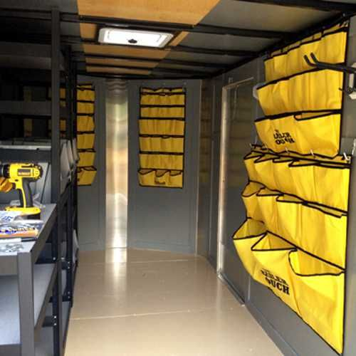 Tool Tamer Portable Organizing Compartment For Tools Enclosed Trailers Trailer Organization Work Trailer