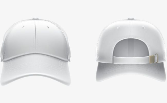 Vector Hand Painted White Baseball Cap Png And Vector White Baseball Cap White Painting White Caps