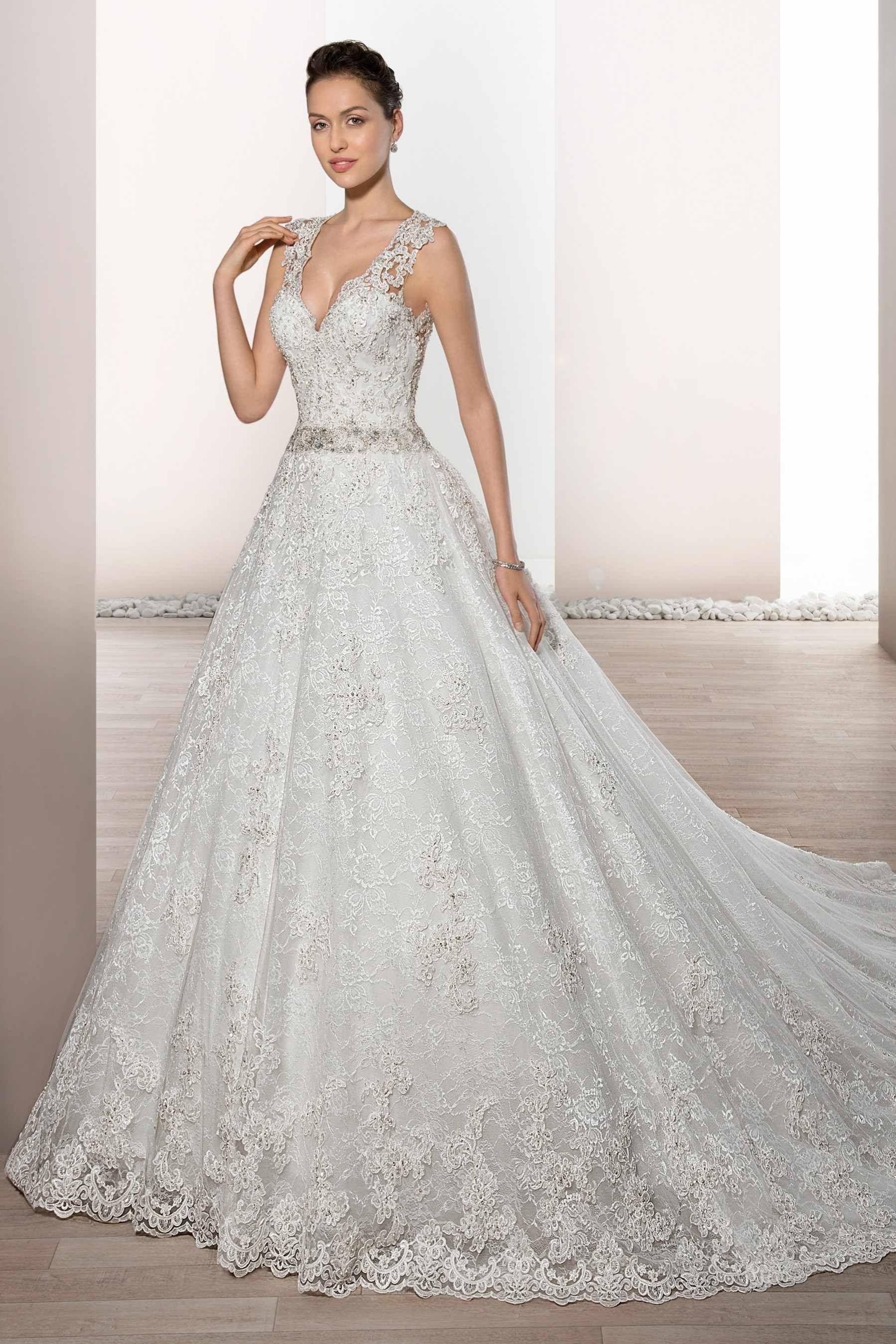 Demetrios wedding dress style an aline gown made foe the