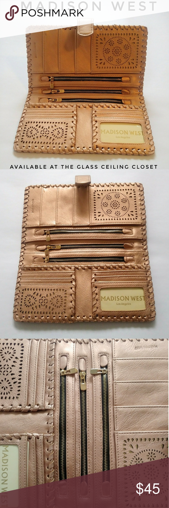 NWOT MADISON WEST PASSPORT WALLET NWOT ROSE GOLD WALLET! PROVIDES PLENTY OF ROOM! Madison West Bags Wallets #myposhpicks
