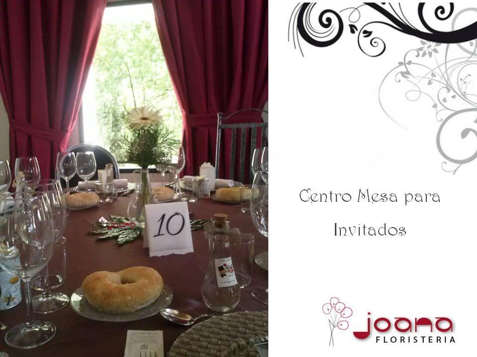 Centro de mesa para invitados para la Boda en la Ermita de las Agustias
