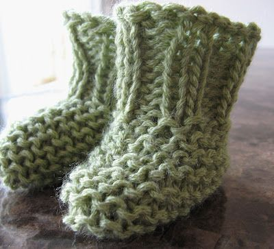 I Knit These Easy Knitted Booties Pattern Via Bundles Of Love For