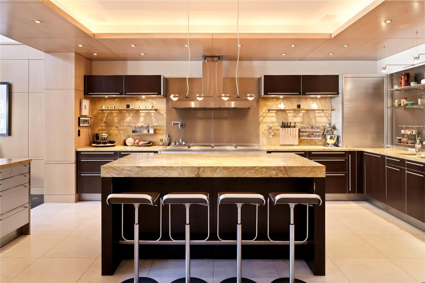 Bon Square Shaped Kitchen Designs | Awesome U Shaped Contemporary Kitchen With  Square Island Marble .