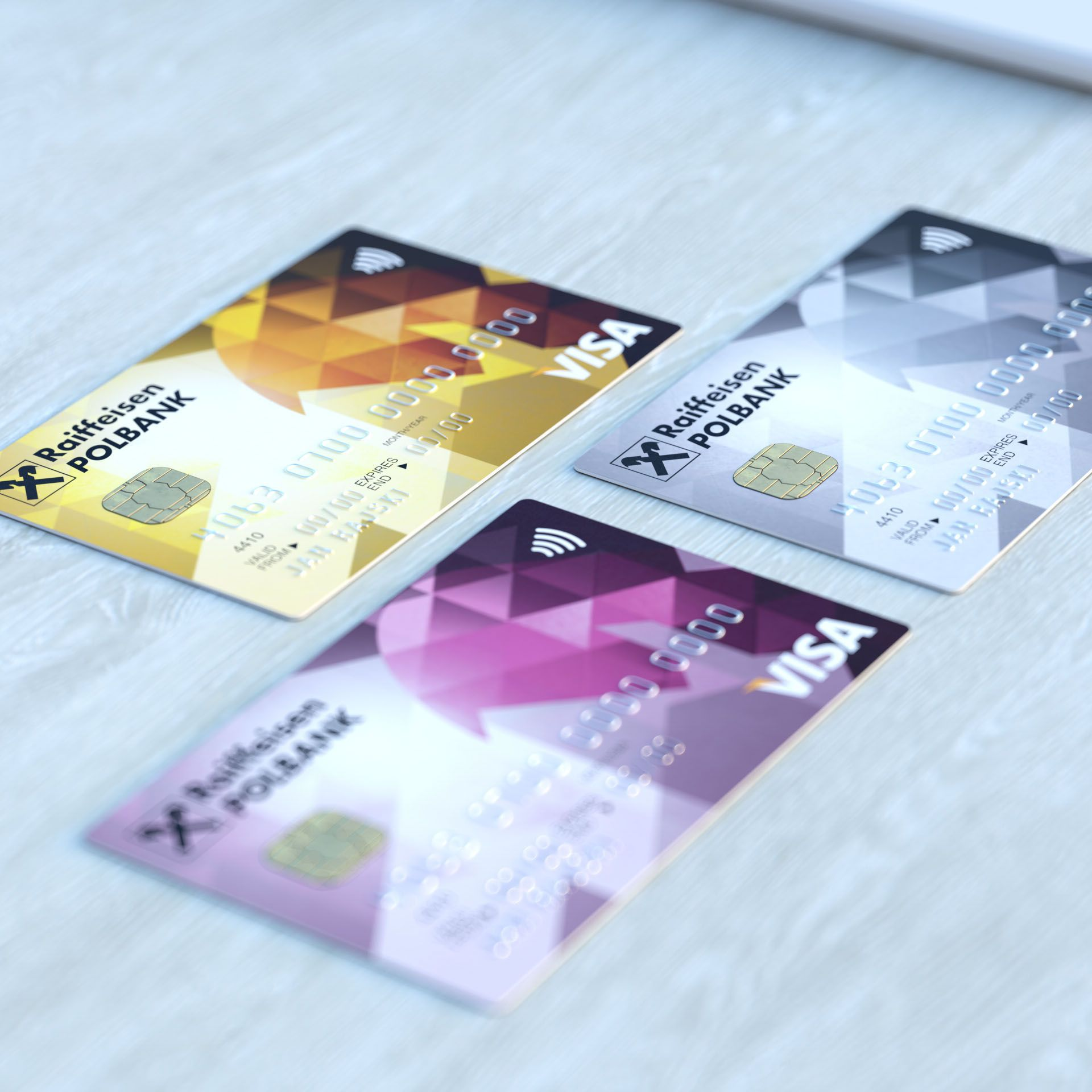Credit and debit card projects for raiffeisen polbank