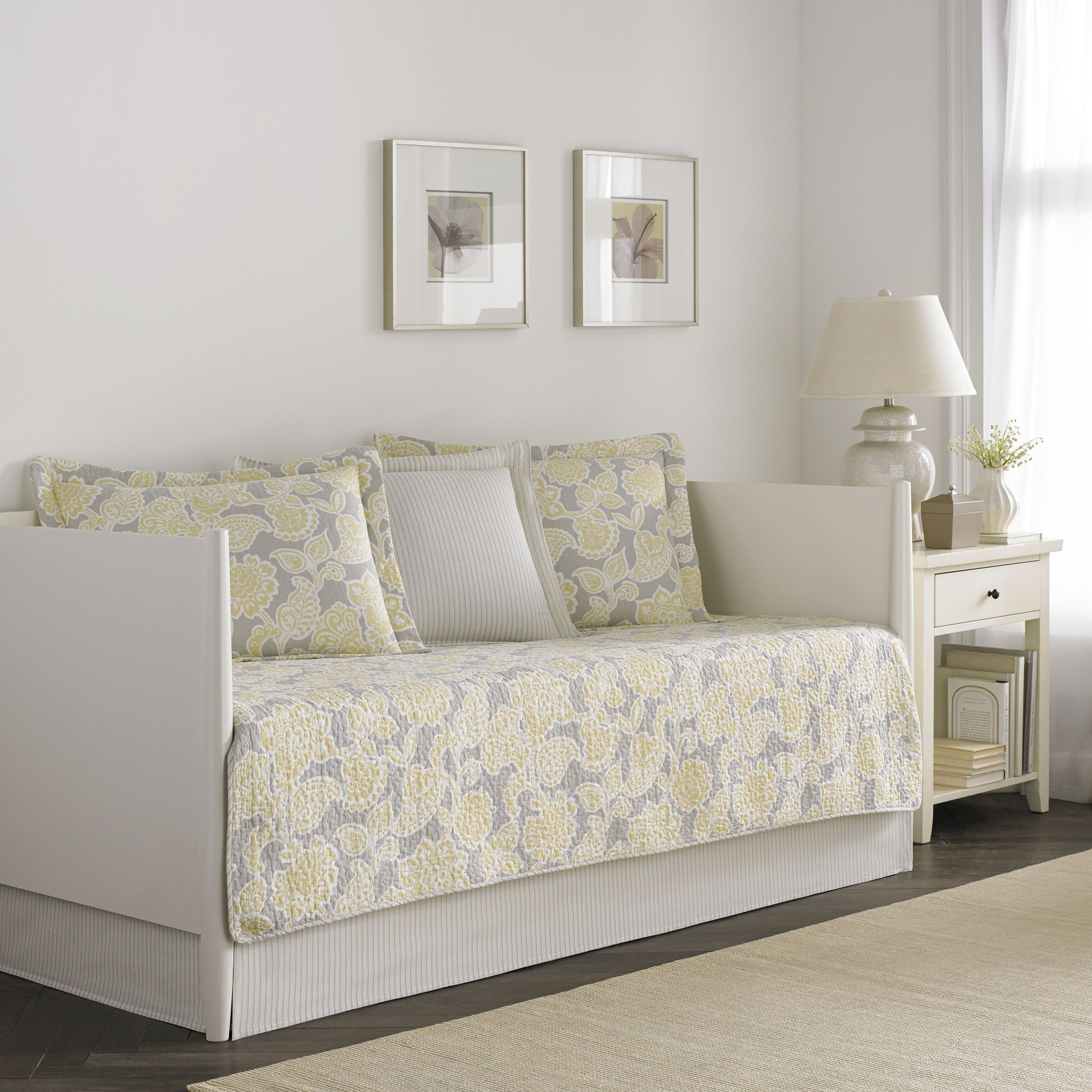 Found It At Wayfair   Joy 5 Piece Daybed Quilt Set In Gray U0026 Yellow