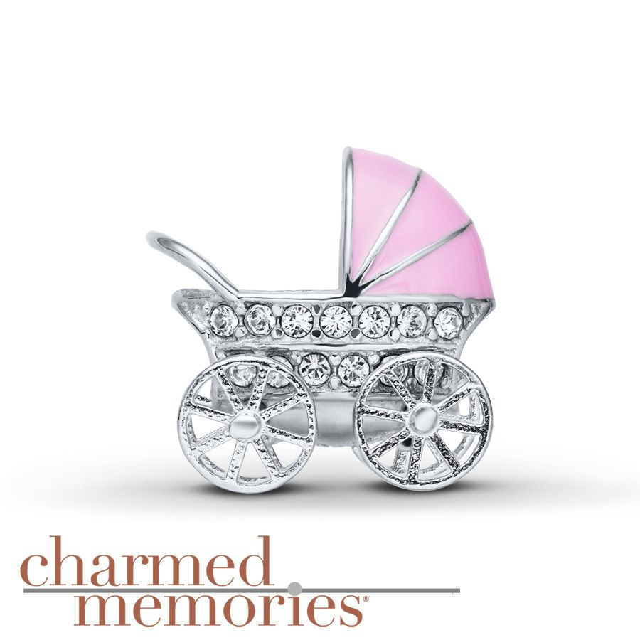 Charmed Memories Carriage Charm Blue Enamel Sterling Silver