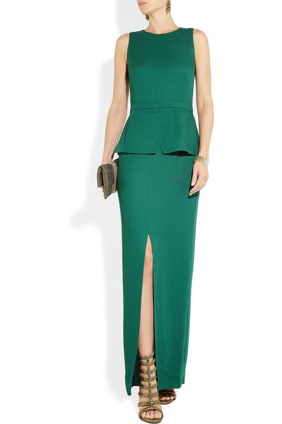 Tibi   Crepe peplum gown   Clothes   Pinterest   Peplum gown, Crepes ...