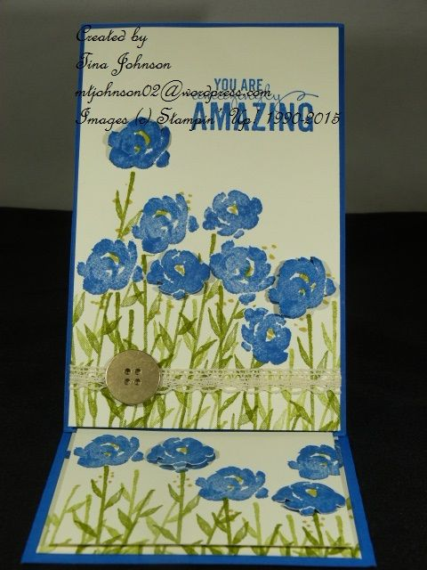 Painted Petals Easel Card