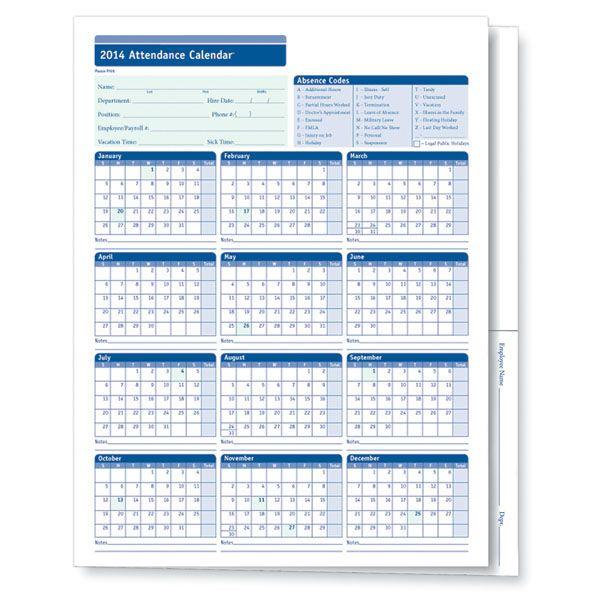 Free  Attendance Calendar Template   Attendance Calendar
