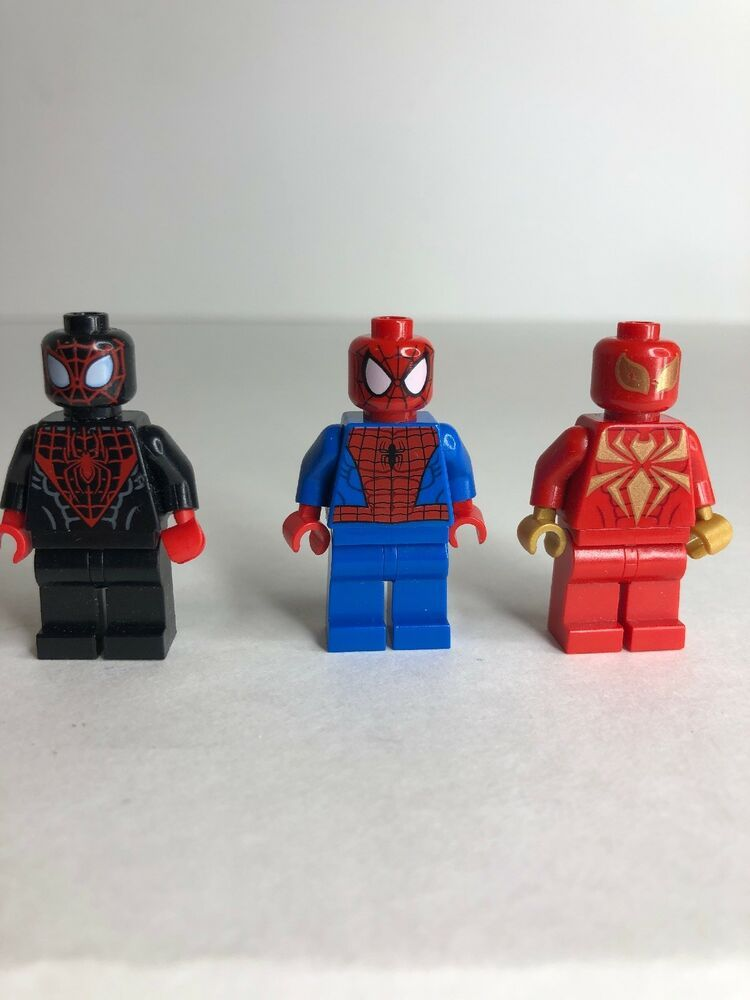 Marvel Spiderman Lego Moc Minifigure Gift For Kids Miles Morales Spiderverse