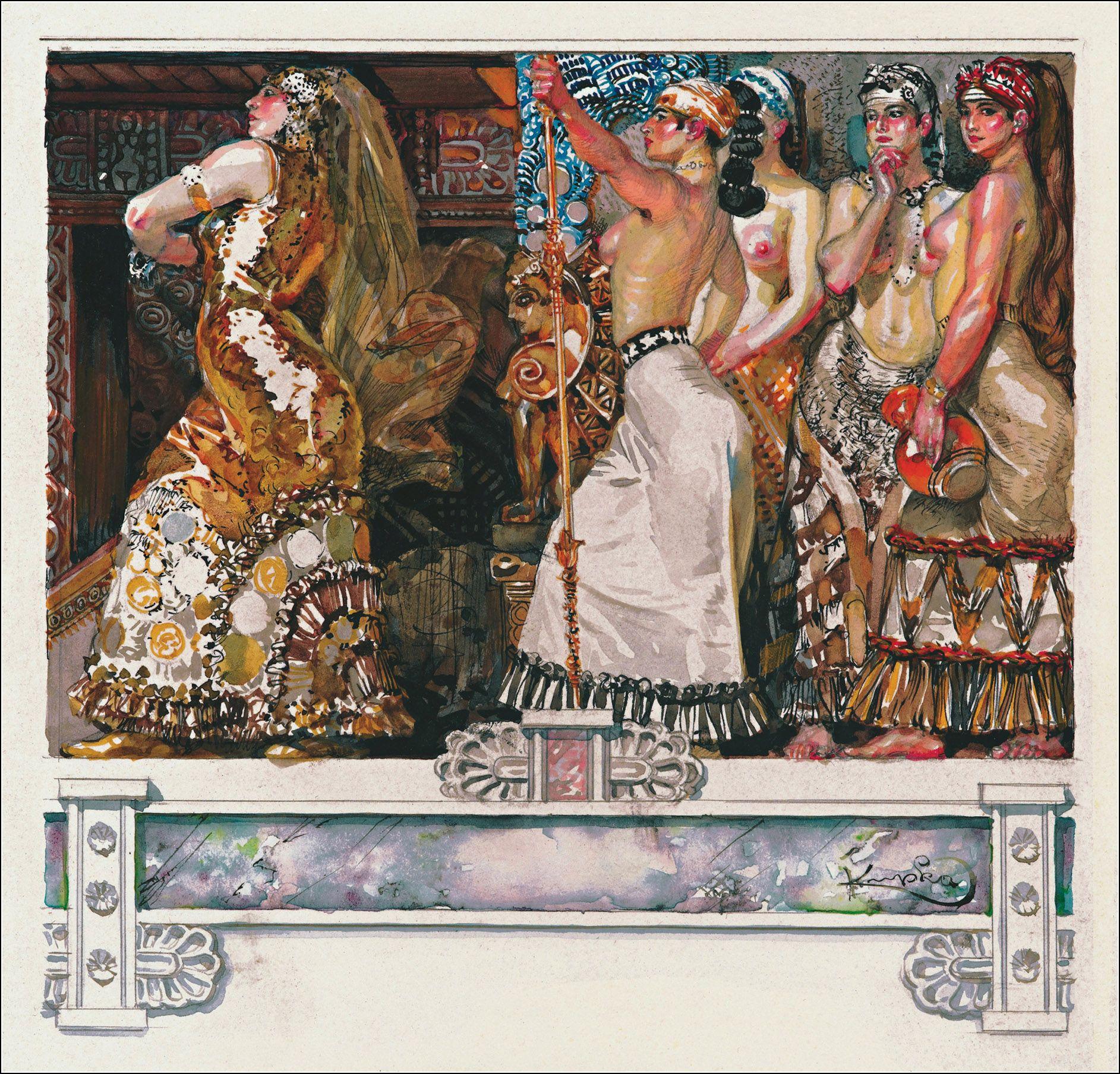 Les Erinnyes. Tragedie antique de Leconte de Lisle. Compositions gravées par François (František) KUPKA. Librairie de la Collection de A. Romagnol, 1908.