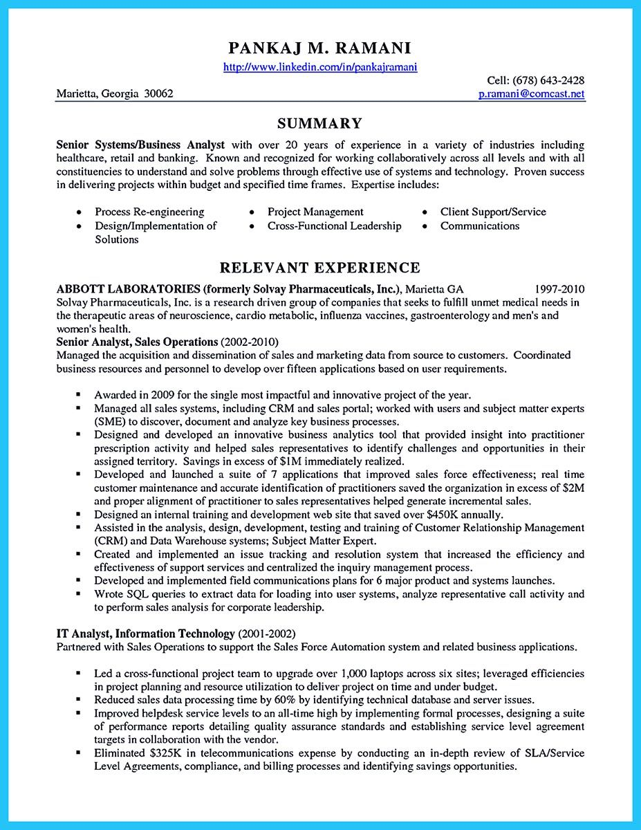 Senior Business Analyst Resume Do You Think Getting The Business Analyst Job Is Easy Getting