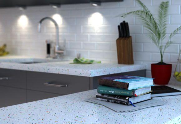 cocina blanca con encimera gris - Buscar con Google   Cocinar a ...