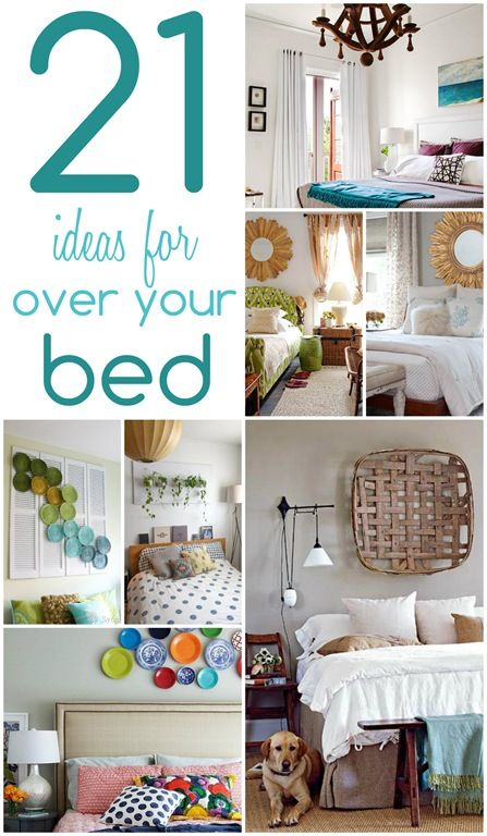 21 ideas for decorating over your bed   21st, Creative and Bedrooms