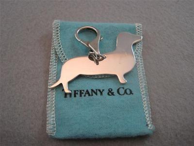 Vintage Tiffany Amp Co Dachshund Dog Charm Pendant Sterling