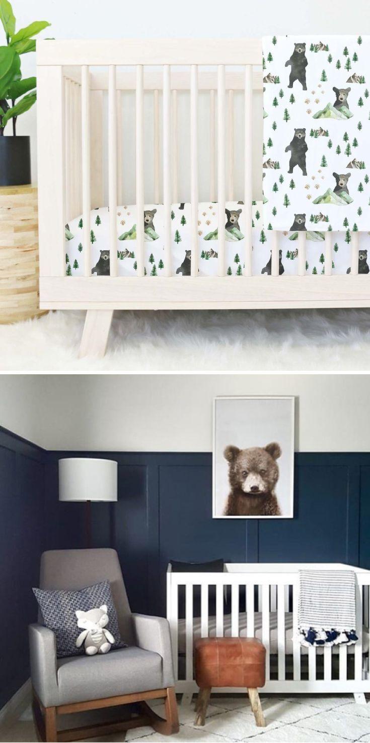 Baby Boy Cribs: Brody's Bear & Mountain Adventure Crib Bedding