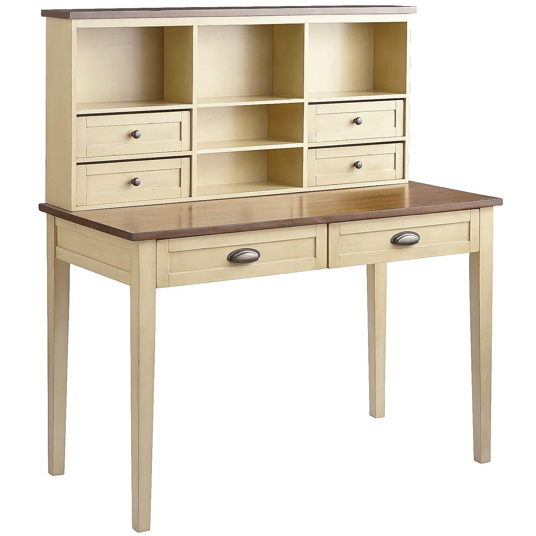 Carmichael Desk & Hutch - Antique Ivory | Pier 1 Imports | Office ...
