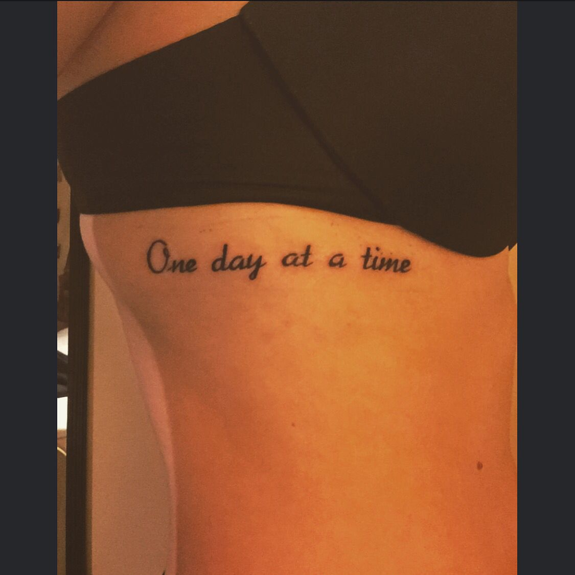 One Day At A Time One Day At A Time Pinterest Tattoos Time
