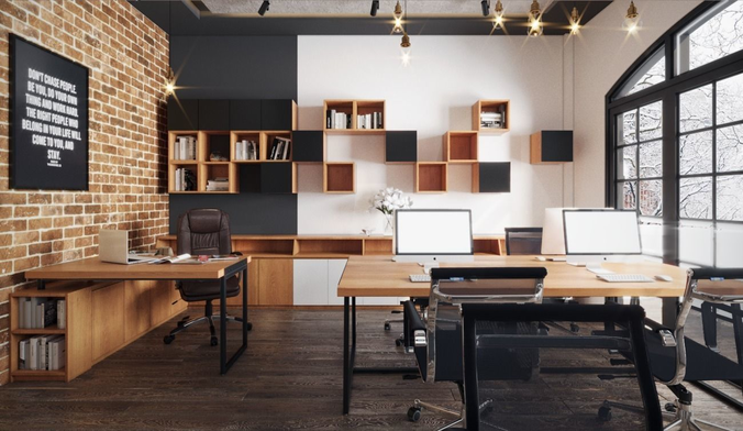 Small Industrial Office 3d Model Small Office Design Home