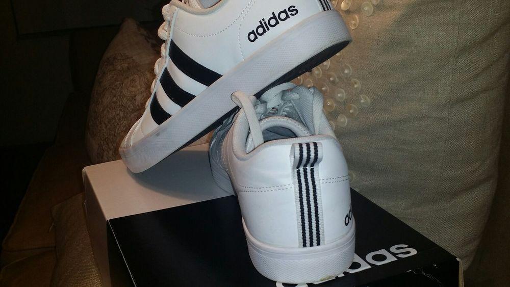 d7d0bbeb744b04 Adidas NEO Men s Pace VS Fashion Sneakers Shoes White Black Size 8M 10W.   fashion