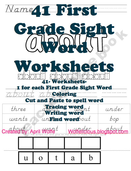 First Grade Dolch Word Worksheets | Summer Learning | Pinterest ...