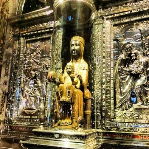 The Black Madonna Of Montserrat The Virgin Was Reportedly Moved To Montserrat In The Year 718 Catholic Spain Travel Madonna