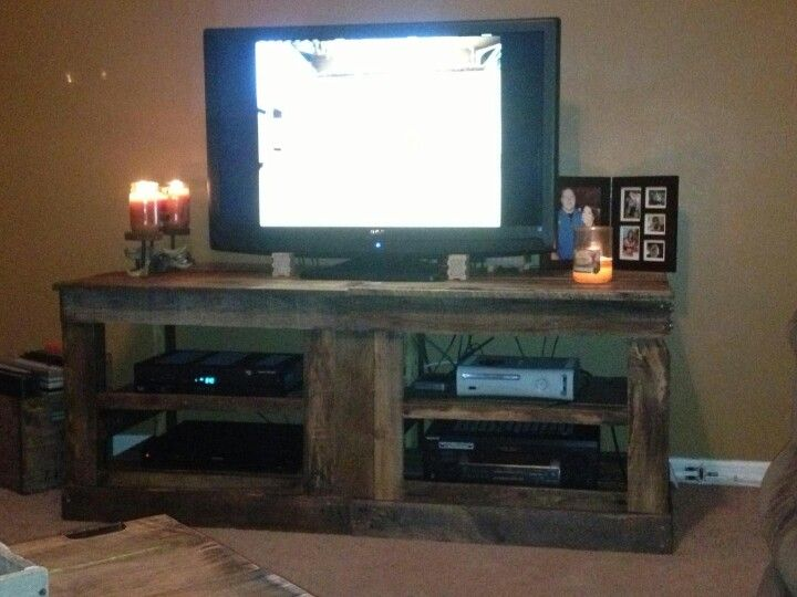 First Part Of Our New Entertainment Center All From Pallets