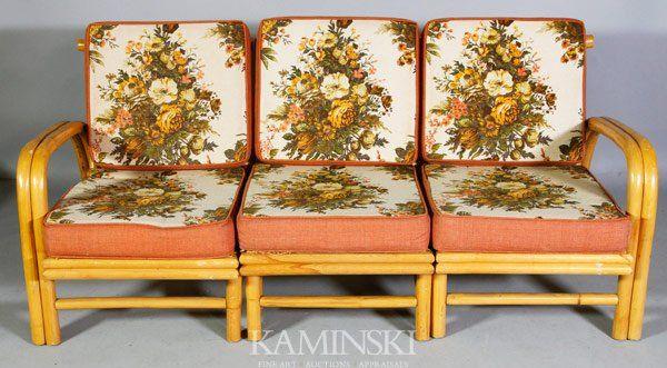 6056 Set Of 1940s Bamboo Furniture, Vintage Bamboo Furniture