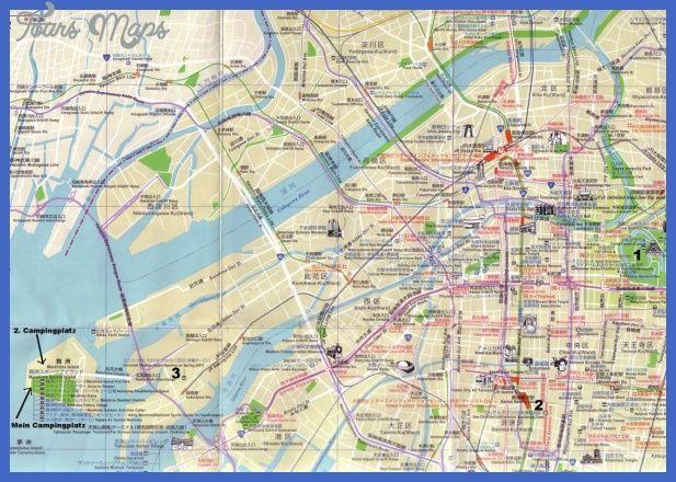 cool Osaka Map Tourist Attractions Tours Maps Pinterest Osaka