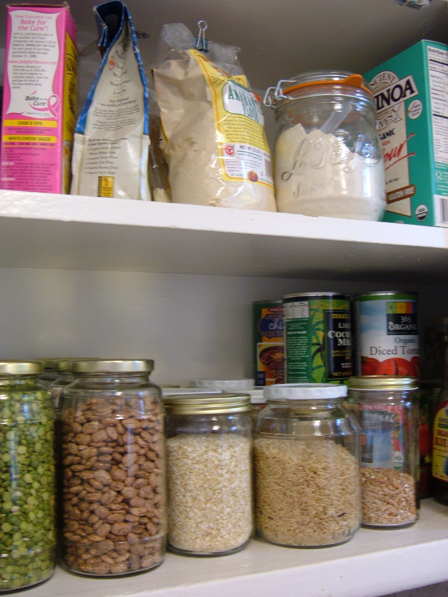Pantry list for gluten-free, dairy-free, sugar-free living.