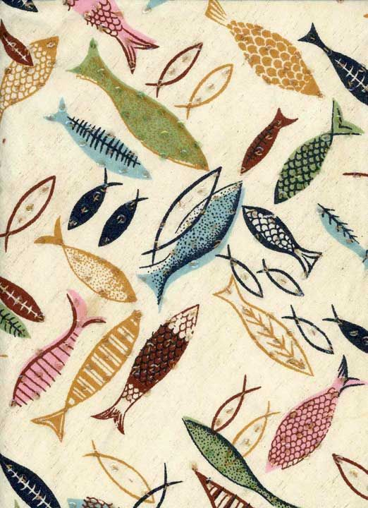 vintage fish fabric textile pattern design inspiration
