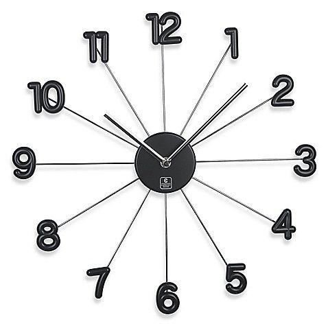 Cupecoy 16 Inch Spike Wall Clock With Aluminum Hands Wall Clock Clock Wall Clocks Living Room