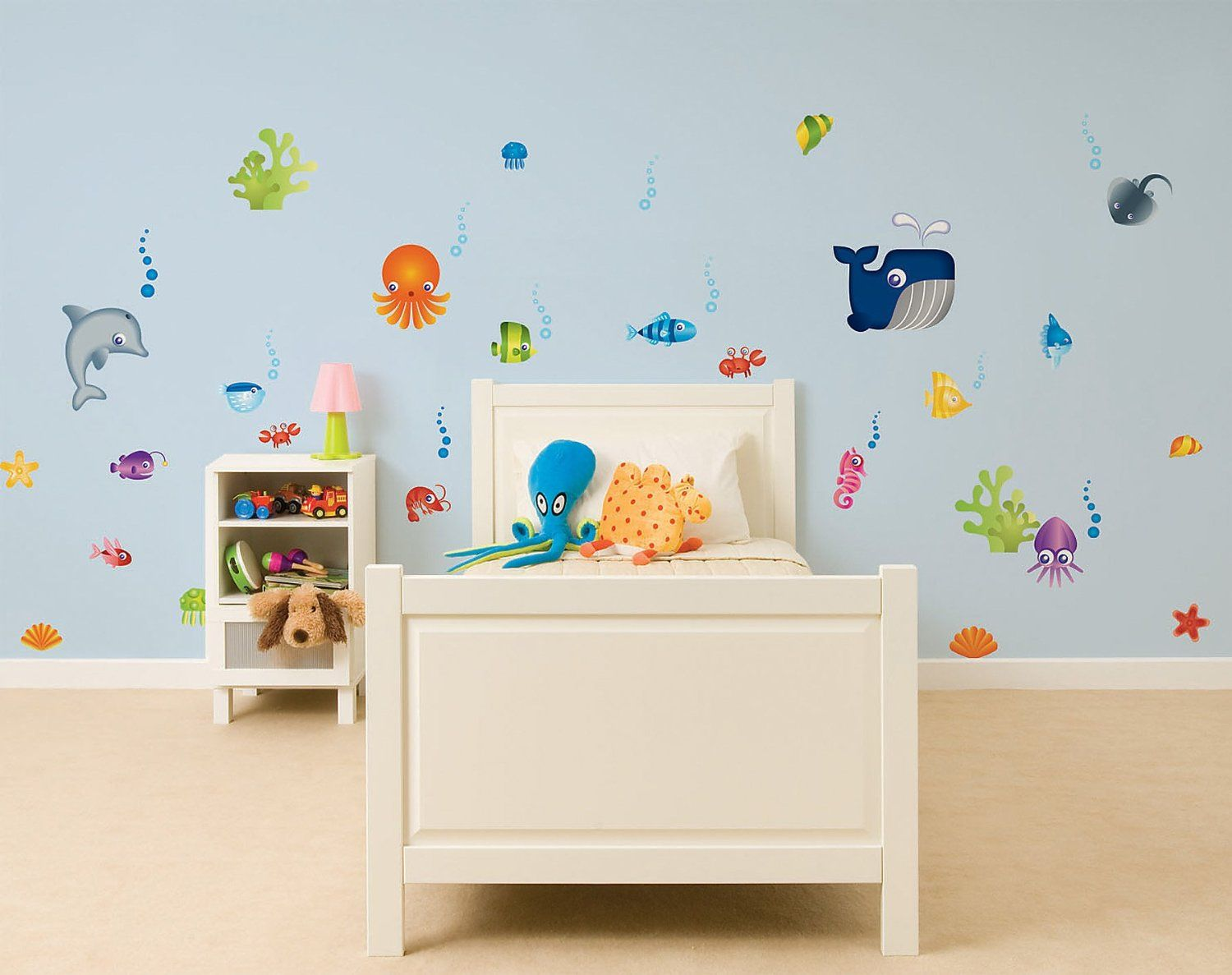 Fun4walls Under The Sea Stikarounds Repositionable Wall Stickers Co Uk Baby