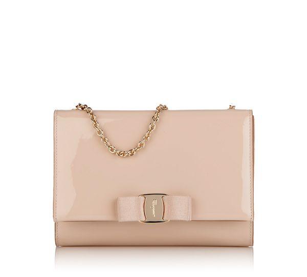 213f6425b4 Ferragamo Mini Bag in New Bisque patent