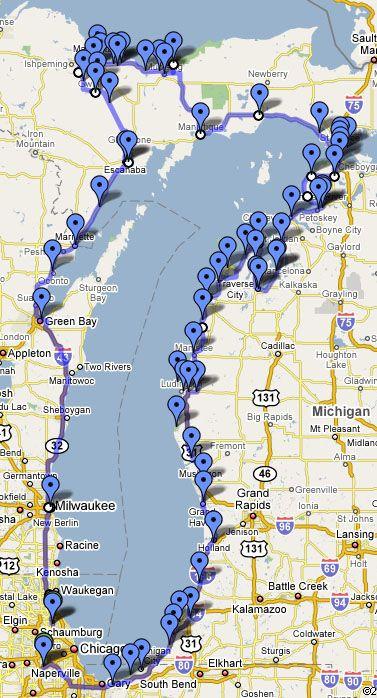 lake michigan circle tour map Lake Michigan Circle Tour Great Info On This Web Site lake michigan circle tour map