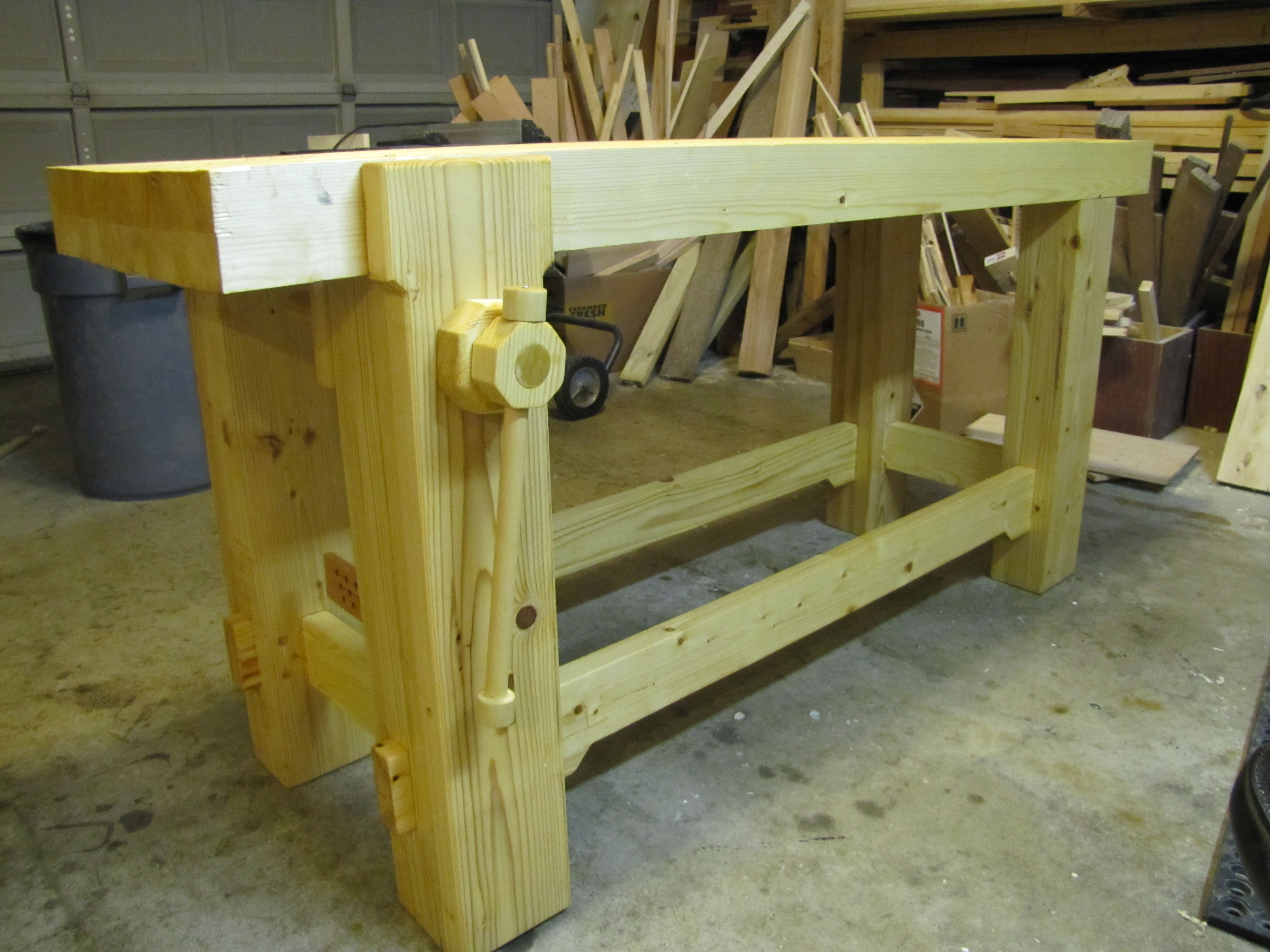 Prime Roubo Style Workbench With Leg Vise Jason Sinco Woodworks Machost Co Dining Chair Design Ideas Machostcouk