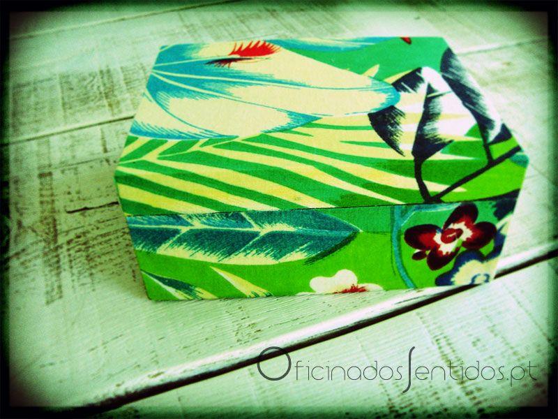 caixa forrada a tecido  ✿ Encomendas ✿: oficina@oficinadossentidos.pt