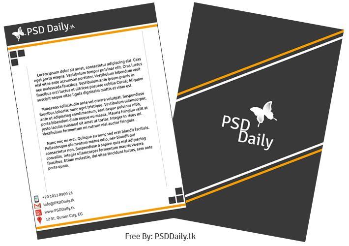 Modern Letterhead Template PSD Art Designing Tips Pinterest - psd letterhead template