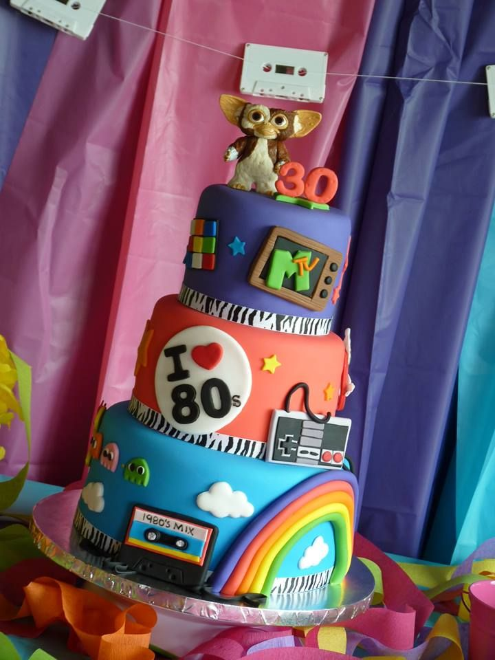 Fine 1980S Cake Mimissweetcakesnbakes Totally80S Mtv With Images Funny Birthday Cards Online Elaedamsfinfo