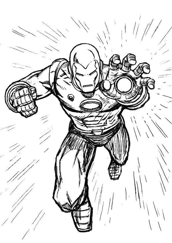 coloring page iron man  iron man  superhelden