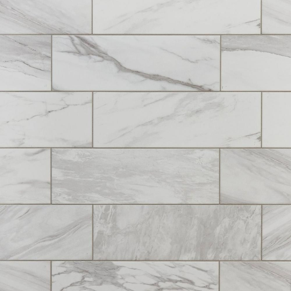 Marble Art Polished Ceramic Tile 6 X 18 100387703 Floor And Decor Kitchen Backsplash