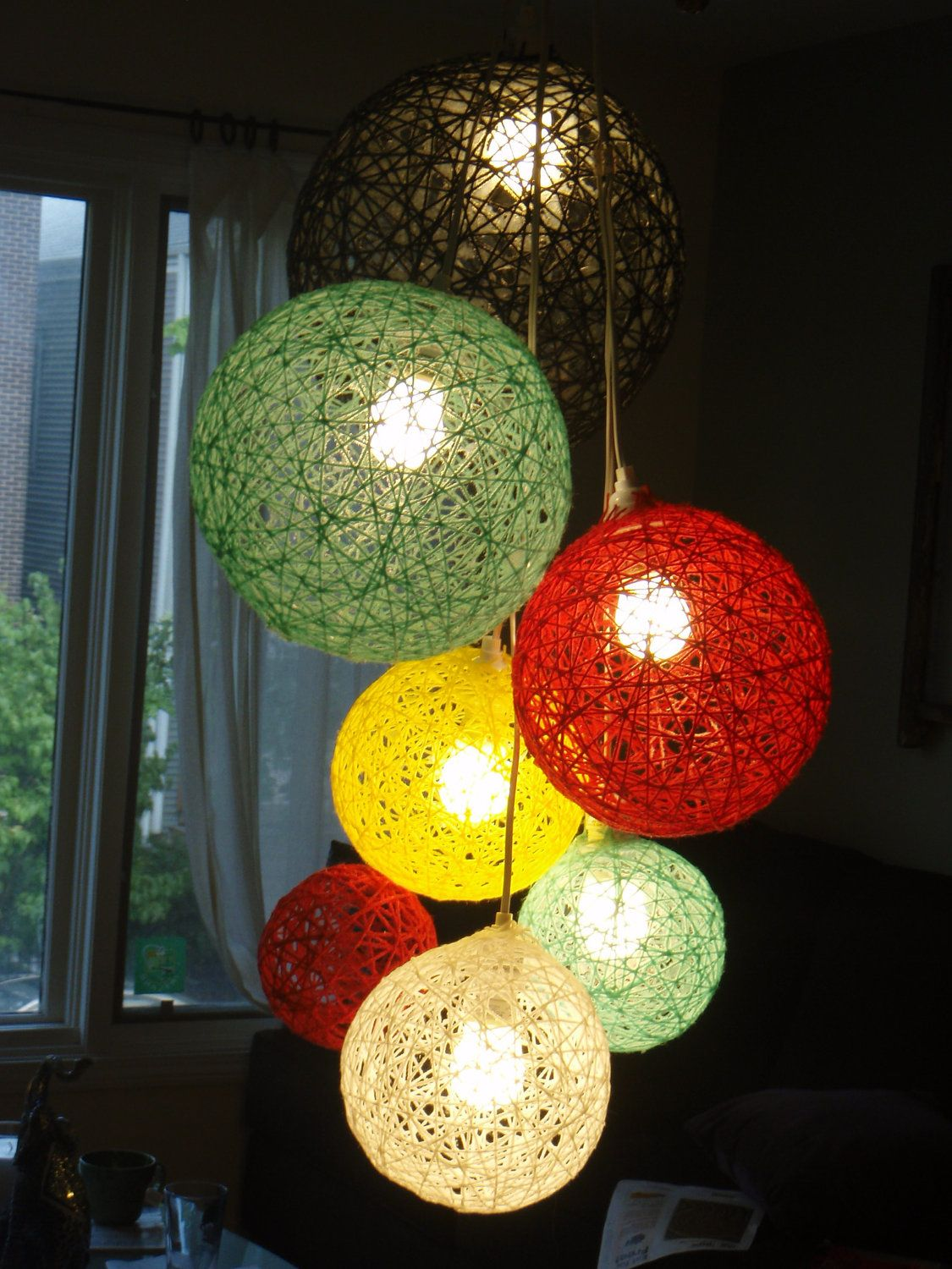 A Cer Of Yarn Ball Lights