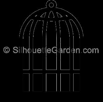 Bird Cage Silhouette Silhouette Clip Art Bird Silhouette Bird Cage