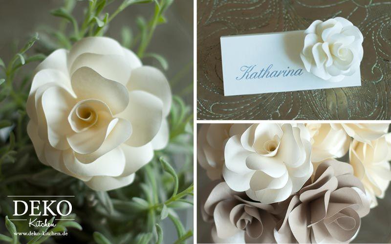 DIY Romantische Rosenblüten Aus Papier Für Tischdeko Oder