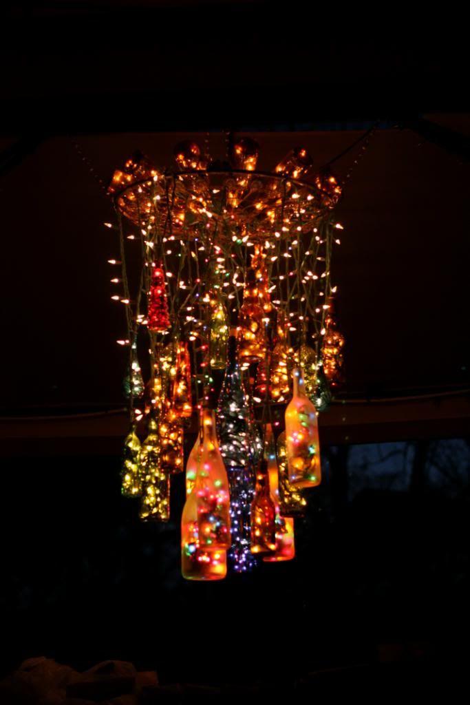 25 creative wine bottle chandelier ideas bottle chandelier bottle and chandeliers - Glass bottle chandelier ...