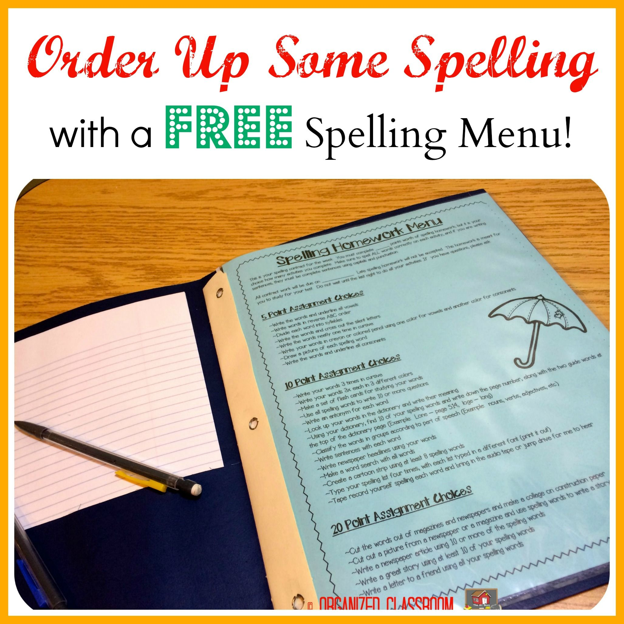 Order Up Some Spelling