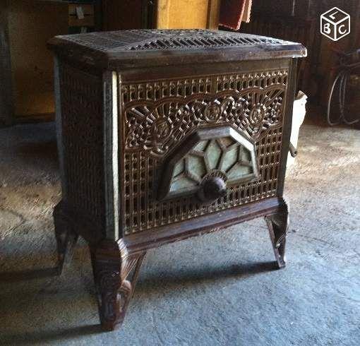Poele A Bois Et Charbon Ancien Annee 1920 An00186 Decoration Aude Leboncoin Fr Poele A Bois Poele A Charbon Bois