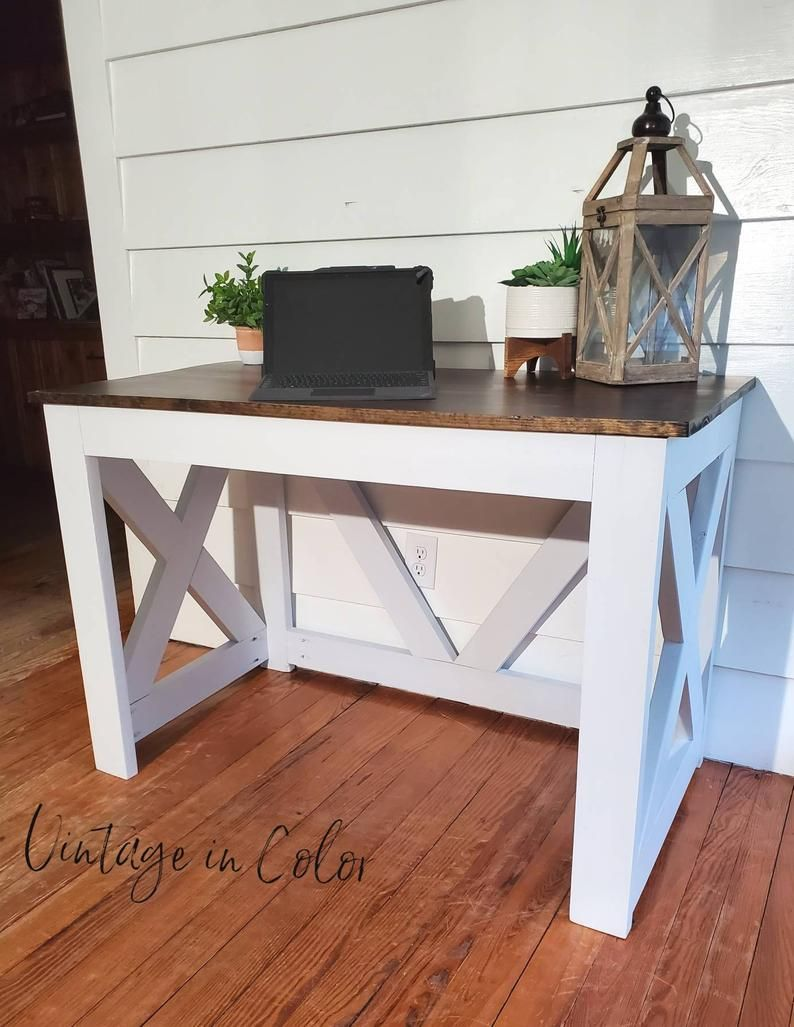 Farmhouse style desk office desk rustic desk etsy in