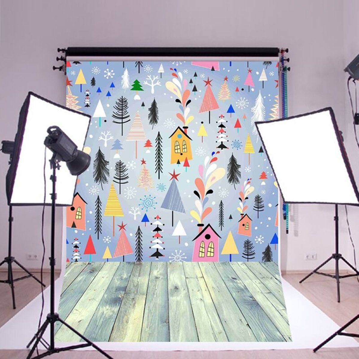3x5ft flower wood wall vinyl background photography photo studio props - 5x7ft Colorful Wood Wall Vinyl Photography Backdrop Photo Background Studio Prop